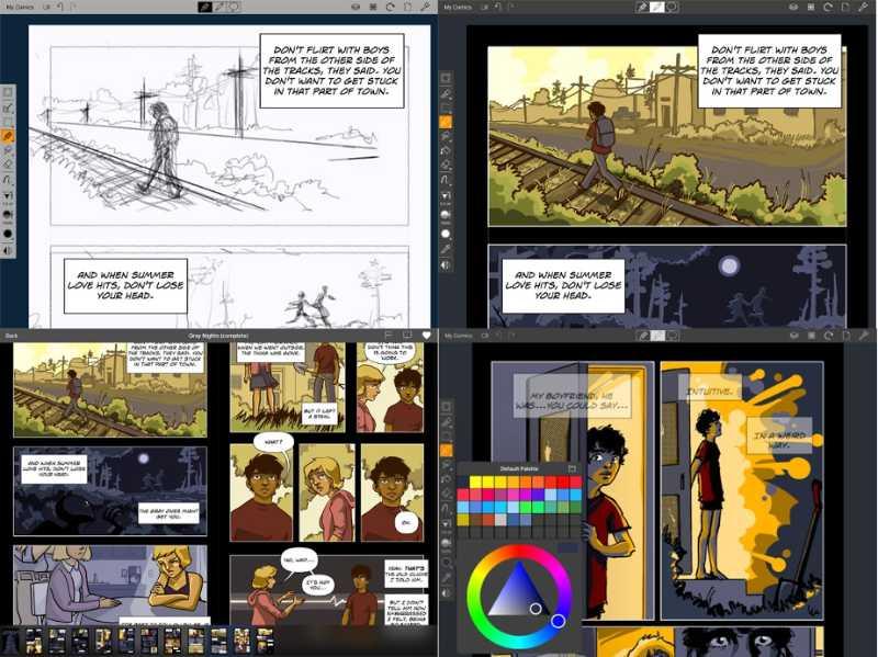 Las mejores aplicaciones de dibujo y pintura digital para iPad - pixelanium - comic draw