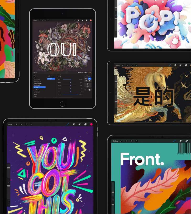 Las mejores aplicaciones de dibujo y pintura digital para iPad - pixelanium - procreate